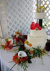 exotic wedding cake.