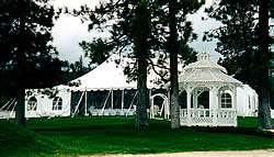 Wedding package gazebo and tent.
