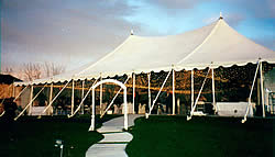 Destination Wedding Package tent with light canopy.